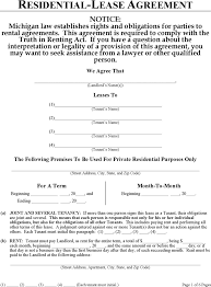 download michigan residential lease agreement form for free tidyform