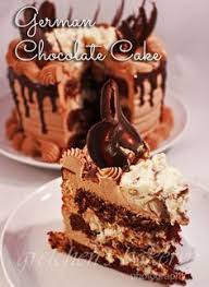 german chocolate cake with chocolate cream cheese buttercream