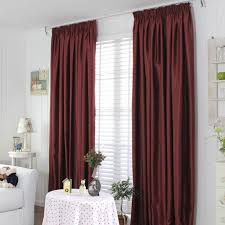 Insulated Window Curtains Insulated Window Curtains In Burgundy Color Of Two Panels