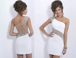 fancy casual dress dress white dress sequins and rhinestones