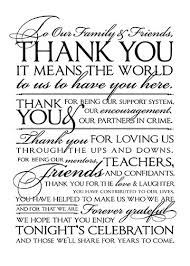 wedding thank you letter to friends and family