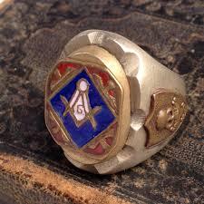 1940 u0027s 50 u0027s masonic mixed metals enamel skulls mexican ring u2014 worn