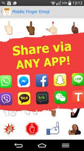 free emojis app for android middle finger emoji free apk free entertainment app for