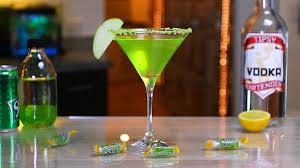gourmet jolly rancher green apple martini youtube