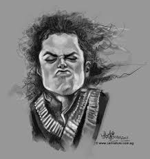 sketch of michael jackson by jit famous people cartoon toonpool