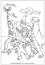 trick treating colouring