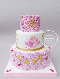 peppa pig birthday cakes tortas pinteres
