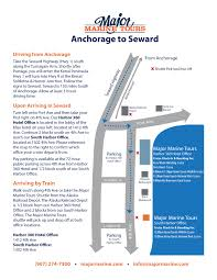 Kenai Alaska Map by Seward Check In Map U0026 Driving Directions Major Marine Tours