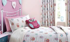 girls bedding and curtains pretty owls childrens bedroom trend dunelm