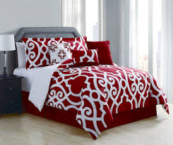 White Comforter Sets Queen Red Bedding Sets Queen Piece Megan Red White Comforter Set Queen