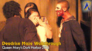 deadrise full maze at queen mary dark harbor 2016 youtube