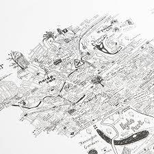 westminster hand drawn london map print by lovely jojo u0027s