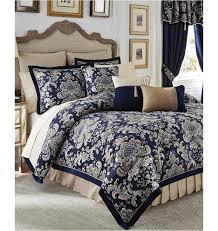 Queen Comforter Sets Amazon Com Croscill Imperial Blue 4 Piece Queen Comforter Set