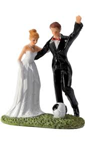 sujet mariage figurine mariage football achat vente