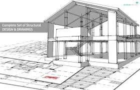 house drawings complete structural design drawings of a reinforced concrete house