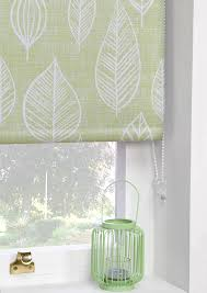 printed blackout roller blinds vermont green art deco ready made