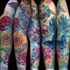 Flower Butterfly Tattoos 01 25 Beautiful Flowers Sleeve Tattoos Tattoozza