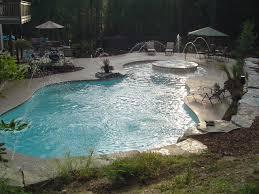 inground swimming pool deck around gunite pool in white lake