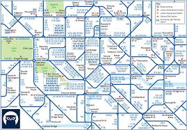 Portland City Maps by Central London Night Bus Map