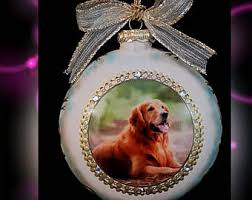 pet photo ornament etsy