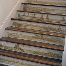 Painted Stairs Design Ideas Stair Riser Design Ideas Via Coastal Living Home Pinterest