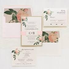 romantic floral wedding invitations blush rose envelope