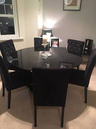 black dining chairs dinette furniture table set for sale small