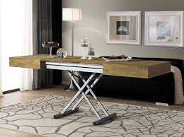 Coffee Table Converts To Dining Table by Contemporary Coffee Table Wooden Rectangular Adjustable