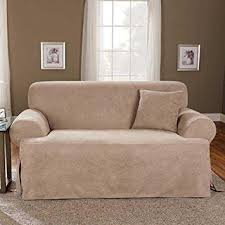 Surefit Sofa Covers by Amazon Com Sure Fit Soft Suede T Cushion Sofa Slipcover Taupe