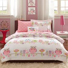 bed bedding using gorgeous bedspread sets for comfy bedroom owl theme bedspread sets in pink for cute bedroom decoration ideas