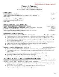 resume pharmacist intern