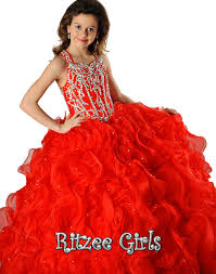 ritzee girls ball gown pageant reflections bridal prom and
