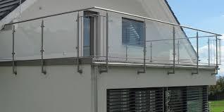 glas balkon edelstahl balkongeländer mit glasplatten und langlebig