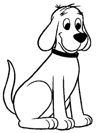 clifford coloring page clifford printable birthday coloring page