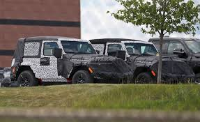 jeep wrangler top 2018 jeep wrangler jl two door spied shows hardtop and soft top