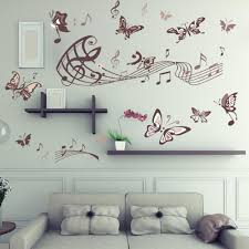 high quality fashion diy music note butterfly removable wall decal high quality fashion diy music note butterfly removable wall decal for living room bedroom wall sticker wallpaper designs wallpaper desktop from arnoknife