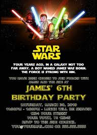 custom printable happy birthday invitation lego star wars boy