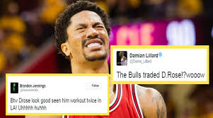 D Rose Memes - the internet went on tilt after hearing derrick rose is now a knick