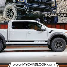 Ford F 150 Truck Body Parts - ford f 150 raptor 2017 graphics side stripe decal sticker retro
