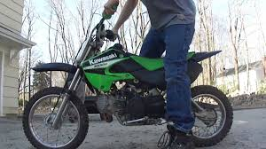 06 kawasaki klx 110 start up youtube