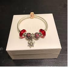 rose gold bracelet with charms images Authentic pandora rose gold bracelet charm set red theme