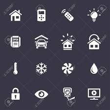 smart home and smart house icons home automation control systems