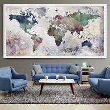 large world map watercolor push pin push pin travel wolrd map