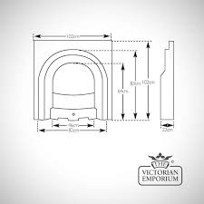 Fireplace Insert Dimensions by Scottish Victorian Style Cast Iron Fireplace Victorian Fireplaces