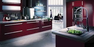 cuisine couleur bordeaux brillant 12 inspirations déco pour une cuisine deco cool