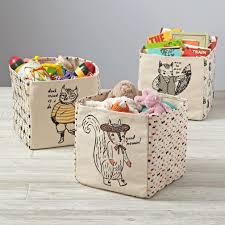 Large Basket For Storing Throw Pillows Kids Storage Bins U0026 Baskets The Land Of Nod