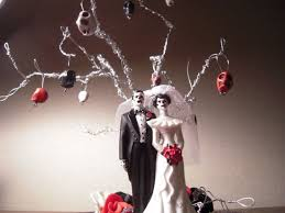 weddings featured item day of the dead zombie skeleton wedding