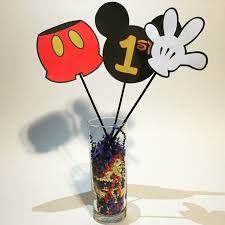 Mickey Mouse Center Pieces Image Gallery Of Mickey Mouse Cutouts For Centerpieces