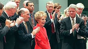 Nancy Reagan by The Obama And Clinton Families Remember Former First Lady Nancy