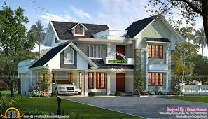 sloping roof house villa design kerala trends with roofs houses